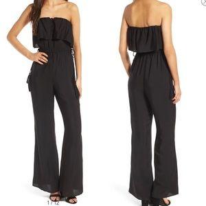 ASTR The labels Black Strapless  jumpsuit …